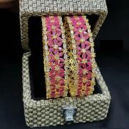 #bangles #broad #flower #designer #zirconia #packoftwo
