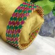 #bangles #AD #CZ #gemstone #redgreen #multicolor #fourbangles #pack