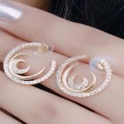 #earrings #threemoon #AD #CZ #zirconia #designer