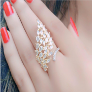#ring #adjustable #cz #goldplated #alloccasions #party