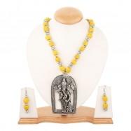 #oxidised #germansilver #scripture #leaf #jhumkis #designer #necklace