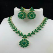 #necklace #green #gemstone #AD #CZ #