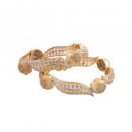 #bangles #AD #CZ #latoo #twotone #silver #gold #multi #designer