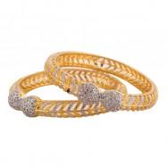 #bangles #doublelatoo #AD #CZ #dualtone #silver #gold #allsizes