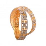 #bangles #AD #CZ #latoo #twotone #silver #gold #multi #designer #butterfly #dot