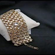 #bracelet #kundan #broad #goldplated #highquality #alloccasion