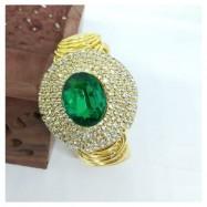 #bracelet #broad#green #gemstone #goldplated #AD