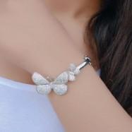#bangles #AD #CZ #silver #gold #multi #designer #butterfly #dot #bracelet #openable
