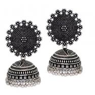#oxidised #silver #jhumkis #germansilver #round #designer