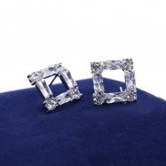 #studs #earrings #cz #square #zirconia #silver #handcrafted