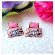 #earrings #meenakari #stud #handpainted #ethnic