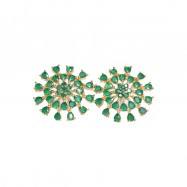 #studs #earrings #cz #zirconia #chakra #green #designer