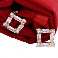 #studs #earrings #cz #zirconia #pearl #gold #gemstone #square