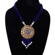 #necklace #blue #onyex #multistrand #kundan #enamel