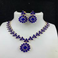 #gemstone #necklace #AD #blue #chokar #zirconia