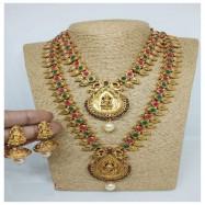 #copper #matt #doublenecklace #south #jewellery #goldplated #goddesss