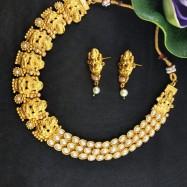 #copper #matt #necklace #south #jewellery #goldplated #ardhgoddess #kemp #white