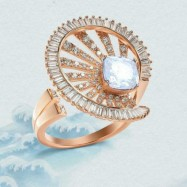 #ring #adjustable #goldplated #AD #zirconia #cz #gemstone#white