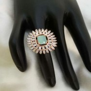 #ring #adjustable #rosegold #spark #turquoise #copper