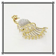 #ring #adjustable #goldplated #AD #zirconia #cz #peacock #white