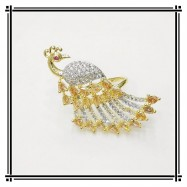 #ring #adjustable #goldplated #AD #zirconia #cz #peacock #gold
