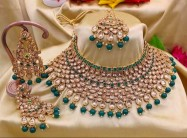 #bridal #semibridal #kundan #green #heavyjewellery