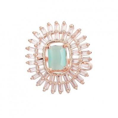 #ring #adjustable #rays #ad #cz #turquoise #swag #stylish #classy