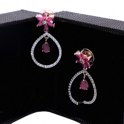 #dropearrings #cz #ad #party #alloccasions #gift #pink #ruby