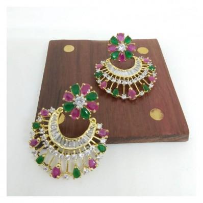 #danglers #AD #earrings #redgreen #zirconia