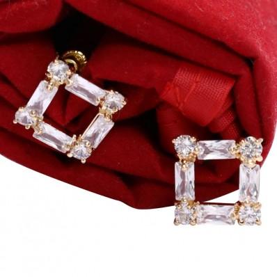 #studs #earrings #cz #zirconia #pearl #gold #gemstone #square