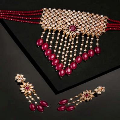 #onyx #chokar #padmawati #red #drop #designer #statement