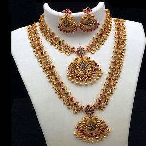 #templenecklace #copper #mattfinish #necklace #peacock #twonecklaces
